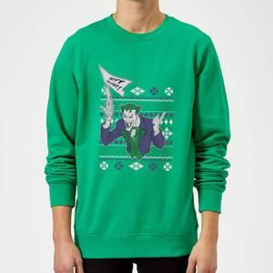DC Batman Happy Holiday The Joker Green Christmas Sweater