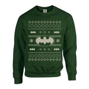 DC Comics Originals Batman Knit Green Christmas Sweater