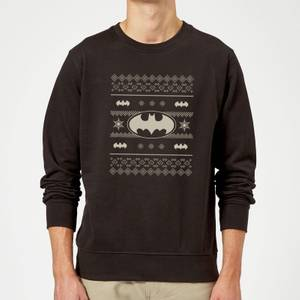 DC Batman Christmas Bat Knit Black Christmas Sweater