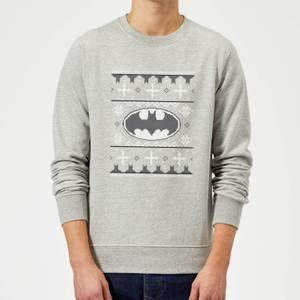 DC Batman Christmas Knit Logo Grey Christmas Sweater
