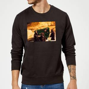 Star Wars Jawas Christmas Tree Black Christmas Sweater
