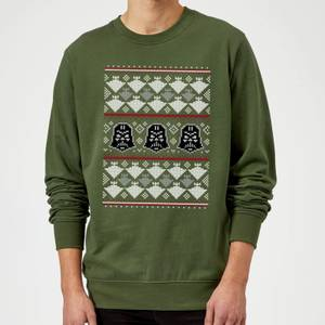 Star Wars Christmas Darth Vader Imperial Starship Knit Green Christmas Sweater