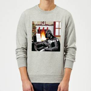 Star Wars Darth Vader Piano Player Grey Christmas Sweater