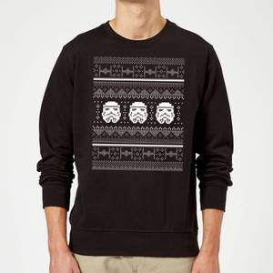Star Wars Christmas Stormtrooper Knit Black Christmas Sweater