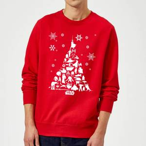 Star Wars Character Christmas Tree Red Christmas Sweater