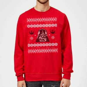 Pull de Noël Homme Star Wars Dark Vador - Rouge
