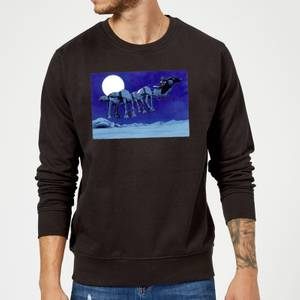 Star Wars Darth Vader AT-AT Christmas Sleigh Black Christmas Sweater
