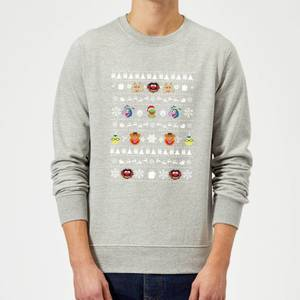 Disney The Muppets Muppets Christmas Heads Grey Christmas Sweater
