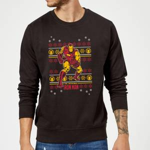 Marvel Comics The Invincible Ironman Black Christmas Sweater