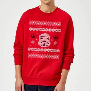 Star Wars Christmas Stormtrooper Knit Red Christmas Sweater