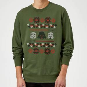 Star Wars Empire Knit Green Christmas Sweater