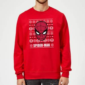 Marvel Comics The Amazing Spider-Man Face Red Christmas Sweater
