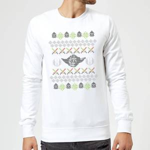 Star Wars Yoda Christmas Knit White Christmas Sweater