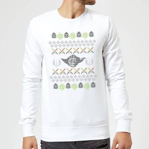 Star Wars Yoda Christmas Knit White Christmas Sweatshirt