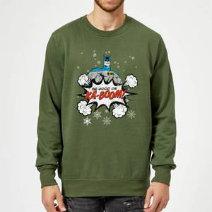 DC Comics Originals Batman Be Good Or Kaboom Green Christmas Sweater