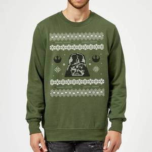 Star Wars Darth Vader Christmas Knit Green Christmas Sweater