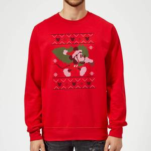 Disney Mickey Mouse Christmas Tree Mickey Red Christmas Sweater