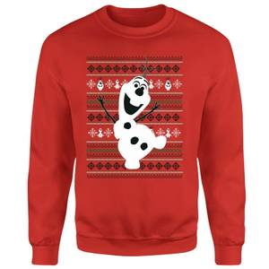 Disney Frozen Christmas Olaf Dancing Red Christmas Sweater