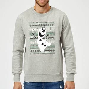 Disney Frozen Christmas Olaf Dancing Grey Christmas Sweater