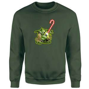 Star Wars Candy Cane Yoda Green Christmas Sweater