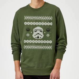 Star Wars Christmas Stormtrooper Knit Green Christmas Sweater