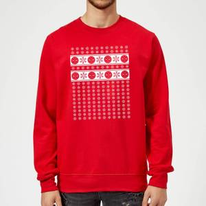 Marvel Deadpool Christmas Snowflakes Red Christmas Sweater