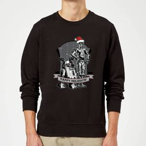 Star Wars Happy Holidays Droids Black Christmas Sweatshirt