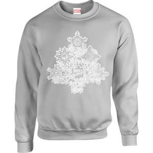 Marvel Comics Marvel Shields Christmas Tree Grey Christmas Sweatshirt
