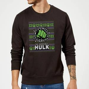 Pull de Noël Homme Marvel Comics L'Incroyable Hulk - Noir