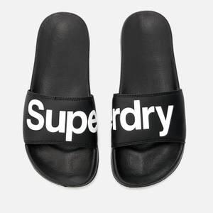 Superdry Men's Superdry Pool Slide Sandals - Black/Optic White