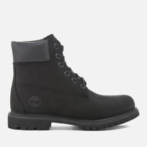 Timberland Women's 6 Inch Nubuck Premium Boots - Black