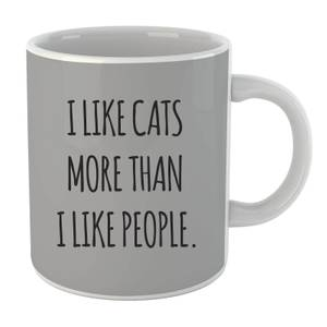 I Like Cats More Than People Mug
