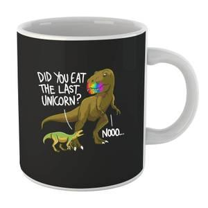 Dinosaur Unicorn (white) Mug