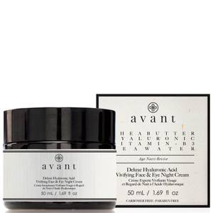 Avant Skincare Deluxe Hyaluronic Acid Vivifying Face and Eye Night Cream 50ml
