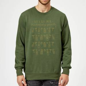 Let's Get Into The Christmas Spirits Sweatshirt - Forest Green