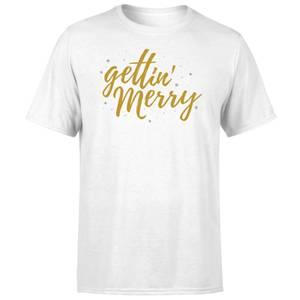 Gettin' Merry White T-Shirt
