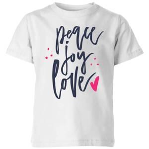 Peace Joy Love Kids' T-Shirt - White