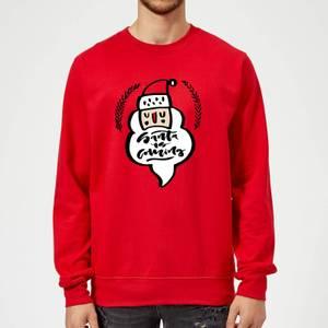 Santa is Coming Sweatshirt - Red