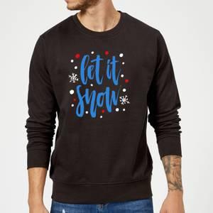 Let it Snow Sweatshirt - Schwarz