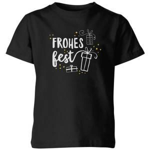 Frohes Fest Kids' T-Shirt - Black