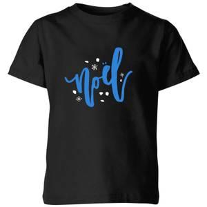 Noel Snowflakes Kids' T-Shirt - Black