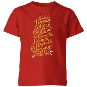 International Reindeer Kids' T-Shirt - Red