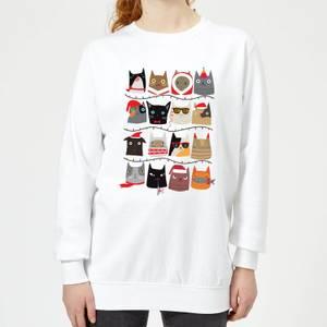 Christmas Cats Women's Sweatshirt - White