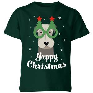 Yappy Christmas Kids' T-Shirt - Forest Green