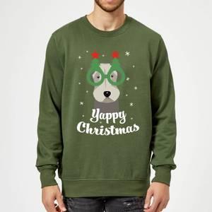 Yappy Christmas Sweatshirt - Forest Green