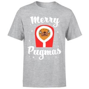 Merry Pugmas T-Shirt - Grey