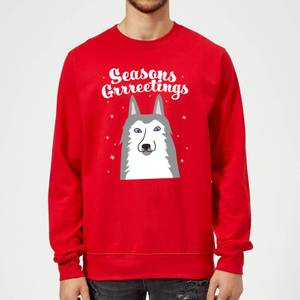 Seasons Grrreetings Sweatshirt - Red