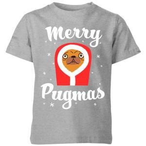 Merry Pugmas Kids' T-Shirt - Grey