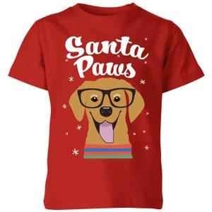 Santa Paws Kids' T-Shirt - Red
