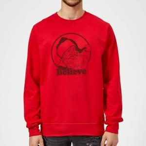Believe Red Sweatshirt - Red